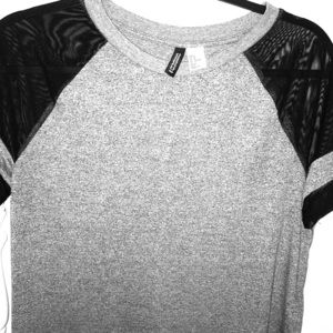 Baseball T-shirt with mesh sleeves